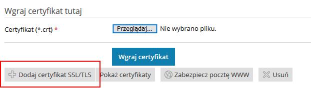 Dodaj sertyfikat SSL w Panelu Plesk