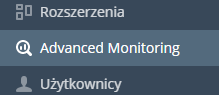 W Panelu Plesk w menu wybierz: Advanced Monitoring
