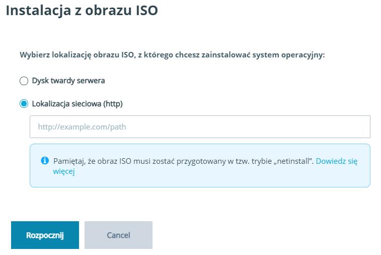 Instalacja z obrazu ISO